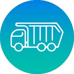 Mattress dispose waste truck
