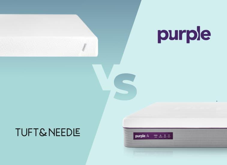 tuft and needle mattress vs purple mattress